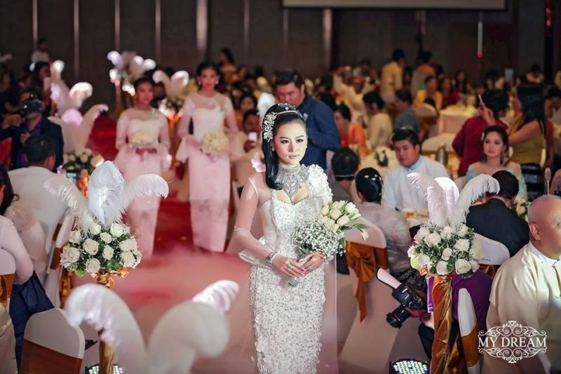 Myanmar bridal dress