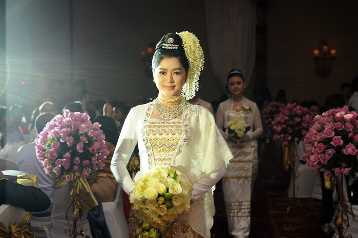 Myanmar Traditional Wedding Dress